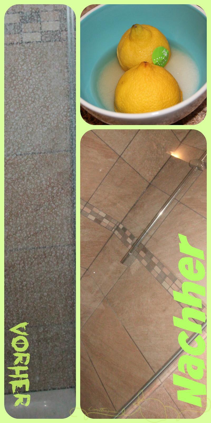 Putztipp Duschwand ruck zuck sauber   Limettengrün